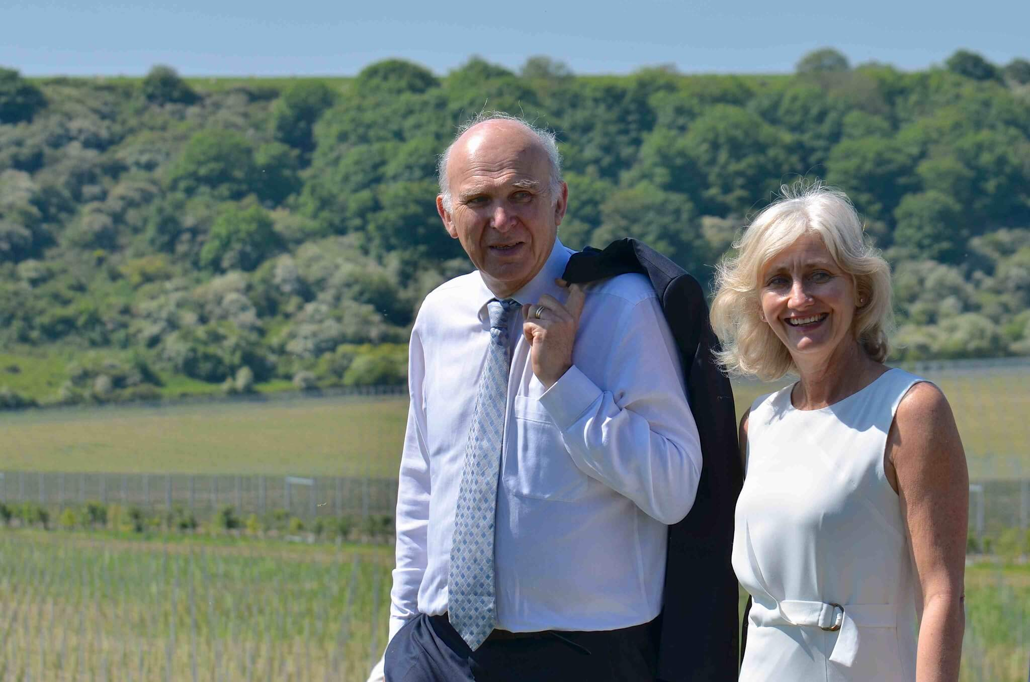 Vince Cable and Sarah Driver