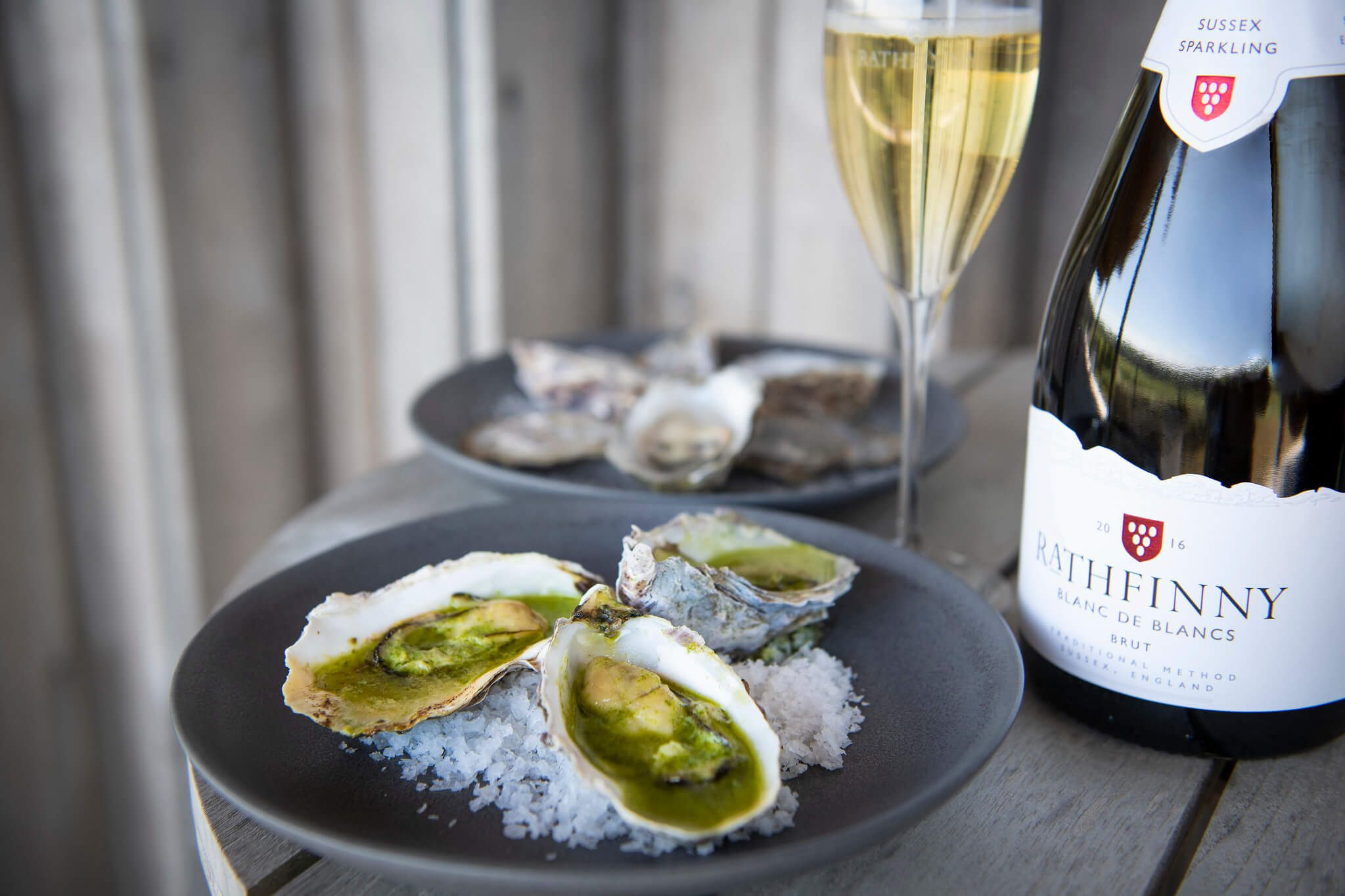 Oysters and Blanc de Blancs