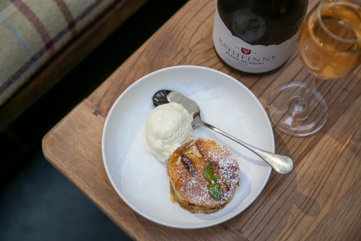 Brioche and Butter Pudding with Sussex Sparkling