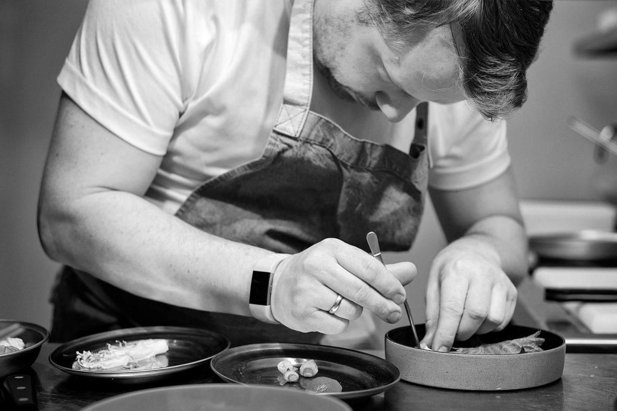 Chris Preparing a Dish