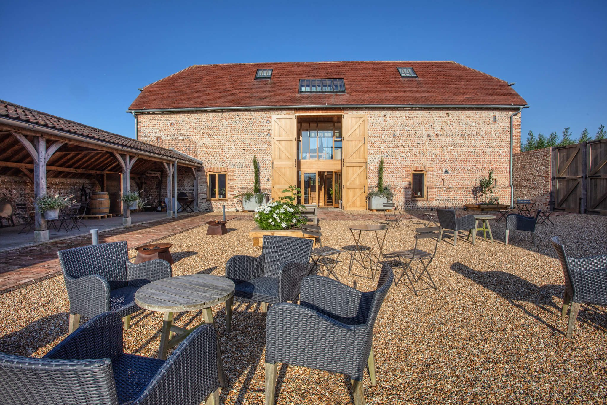 Flint Barns courtyard