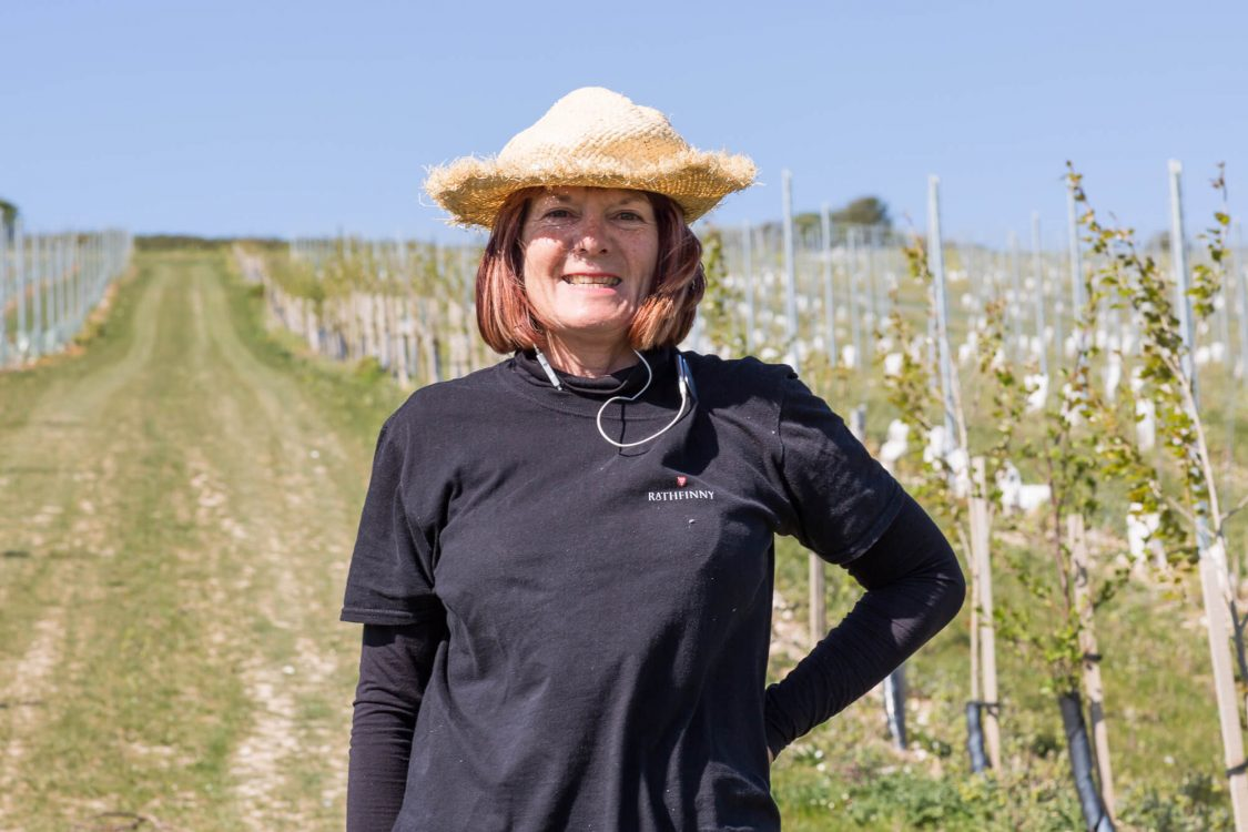 Judith Smiling on the Vineyard