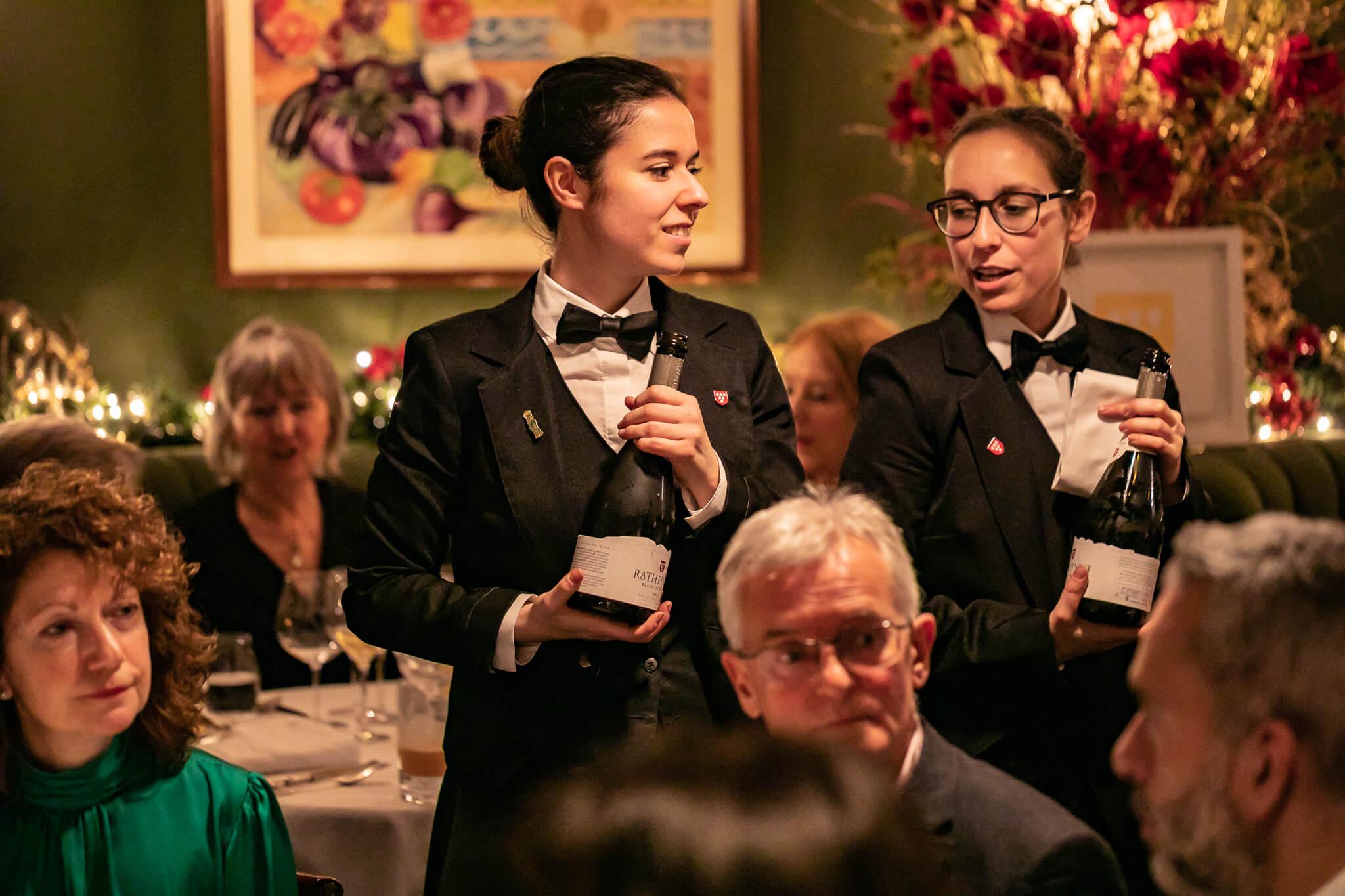 Female Sommeliers Holding Rathfinny Sparkling Wine