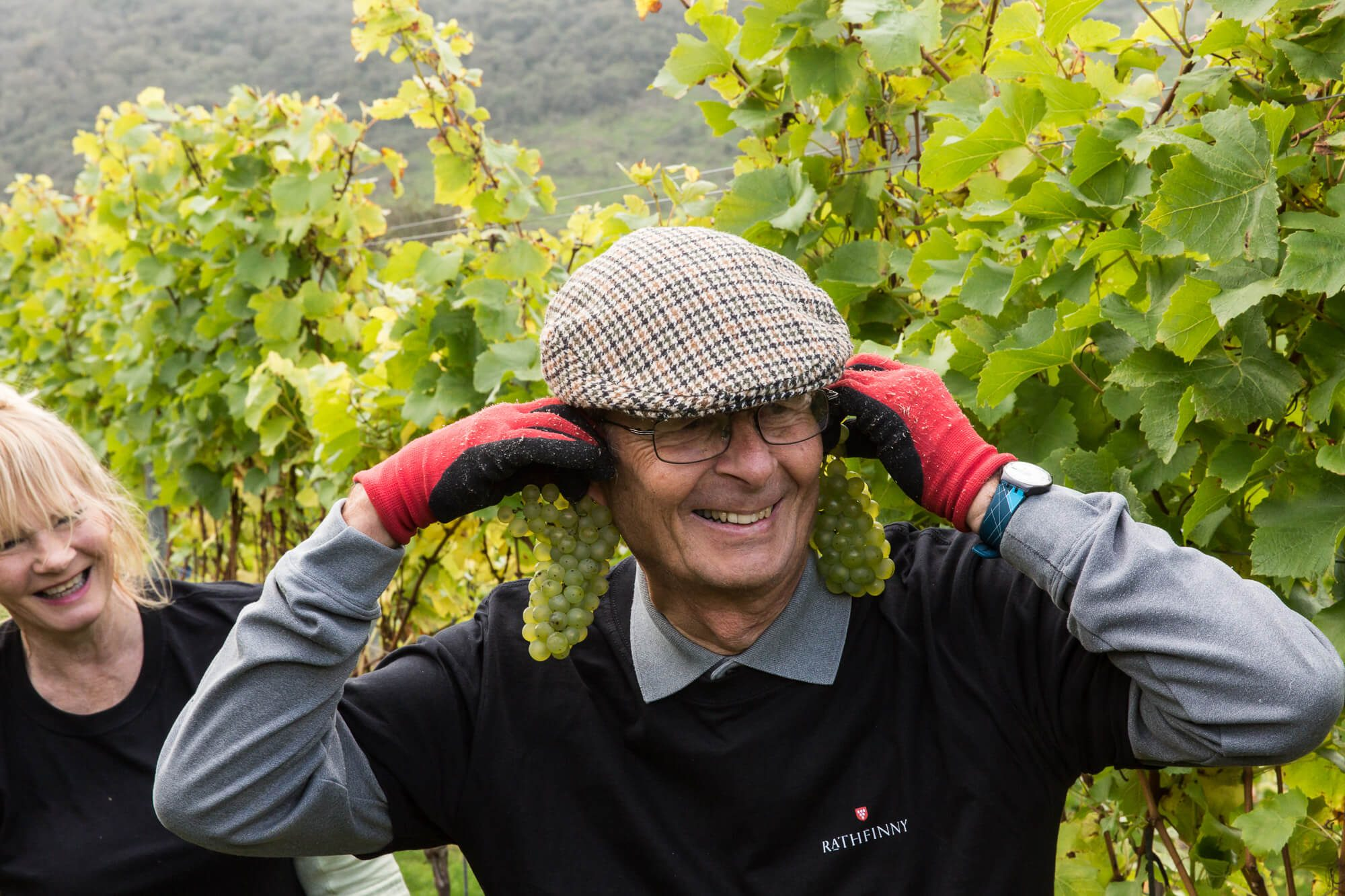 Man with Grapes for Ears