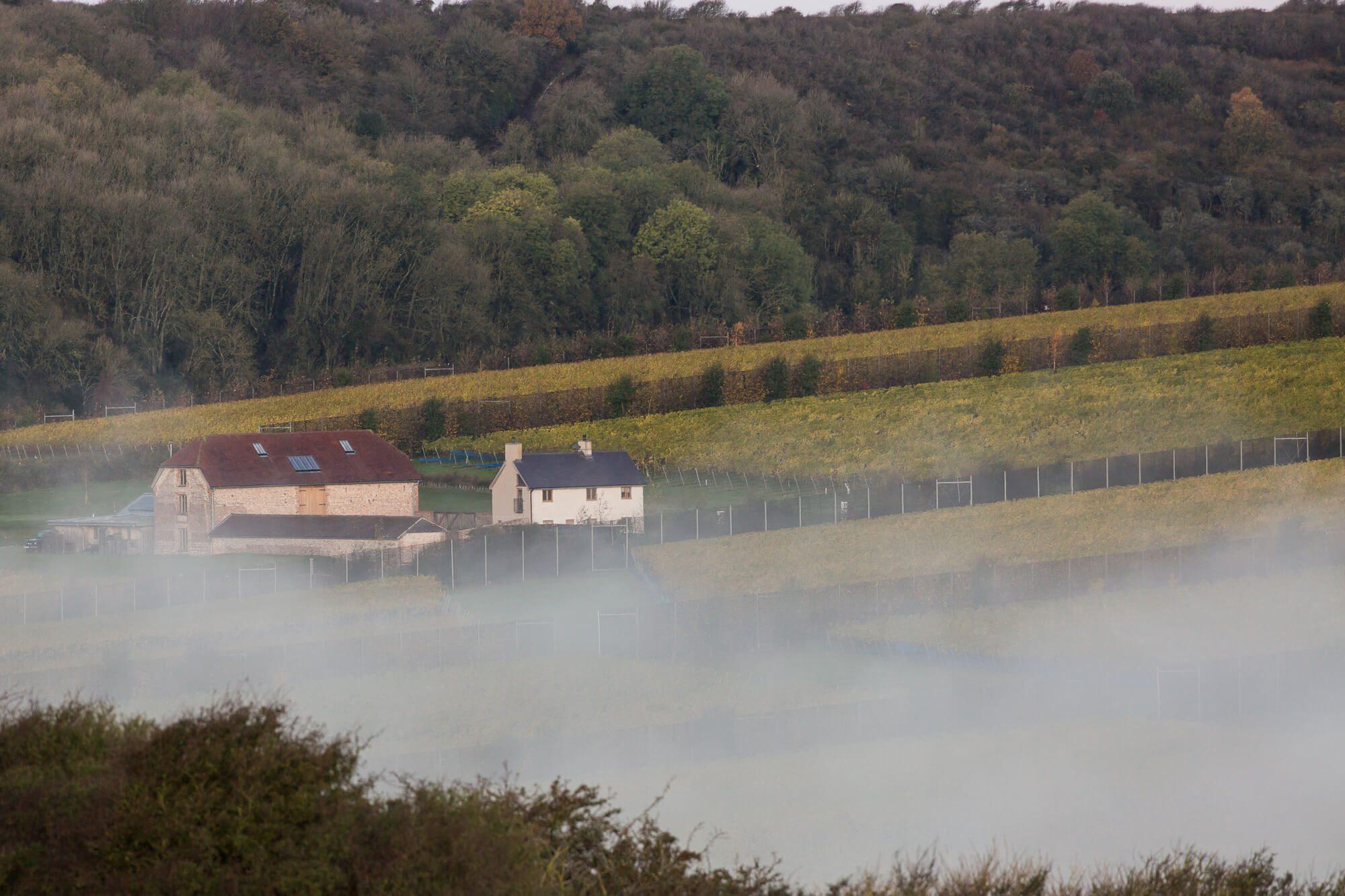 Mist Over the Flint Barns