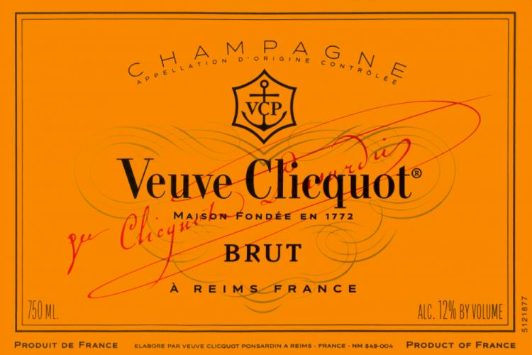 original Veuve Clicquot label