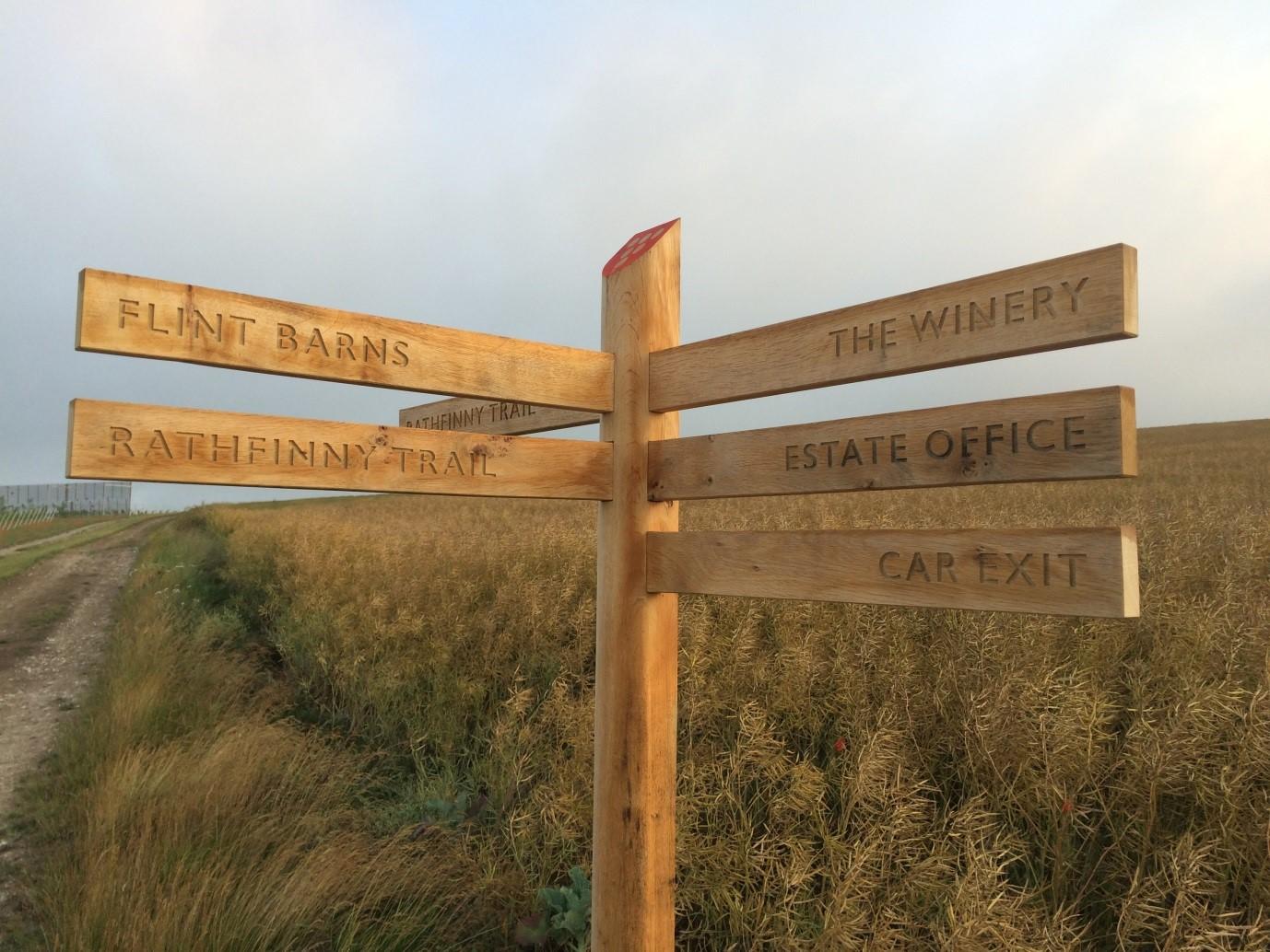 Rathfinny Trail signpost