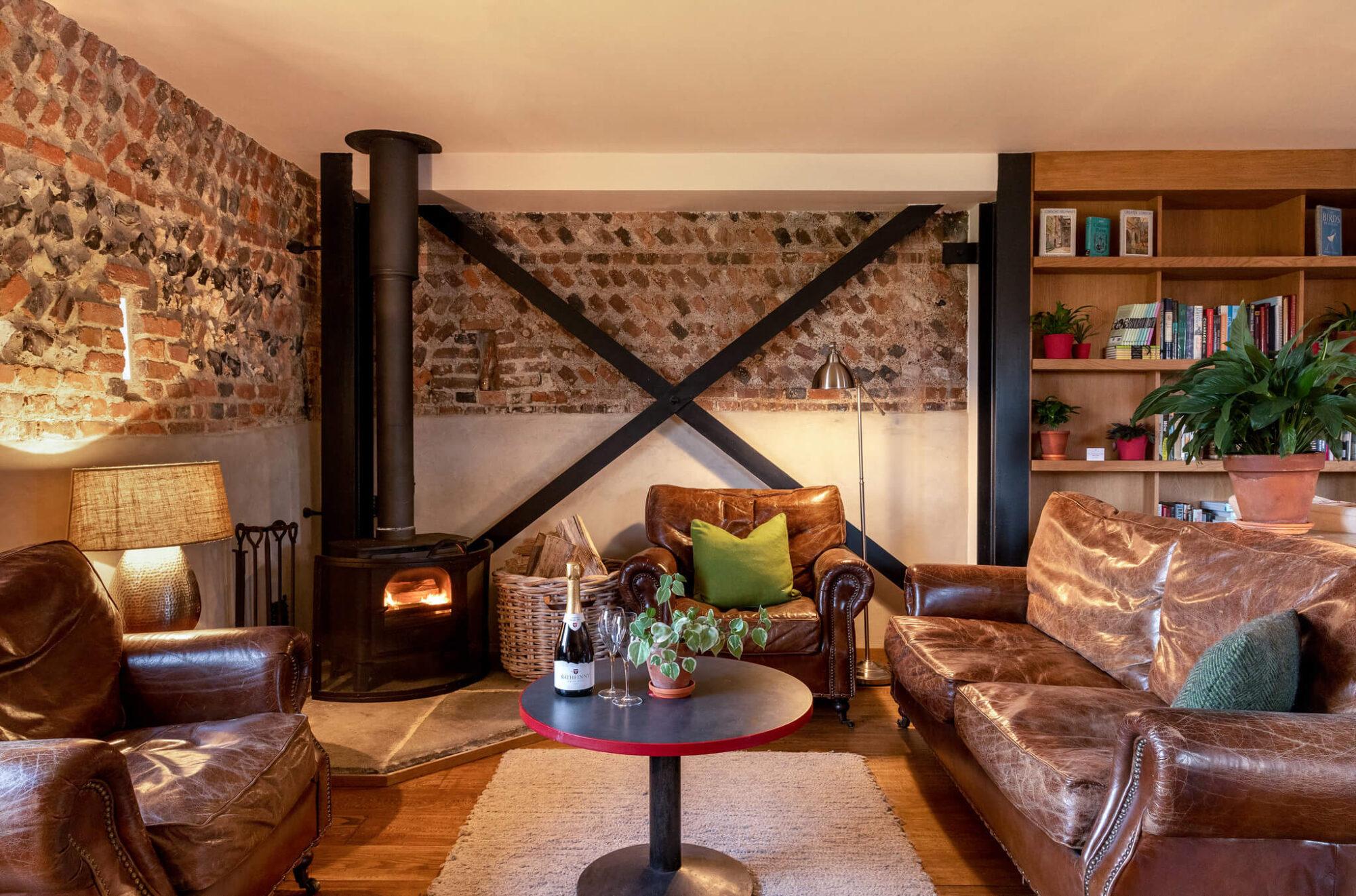 Flint Barns cosy lounge