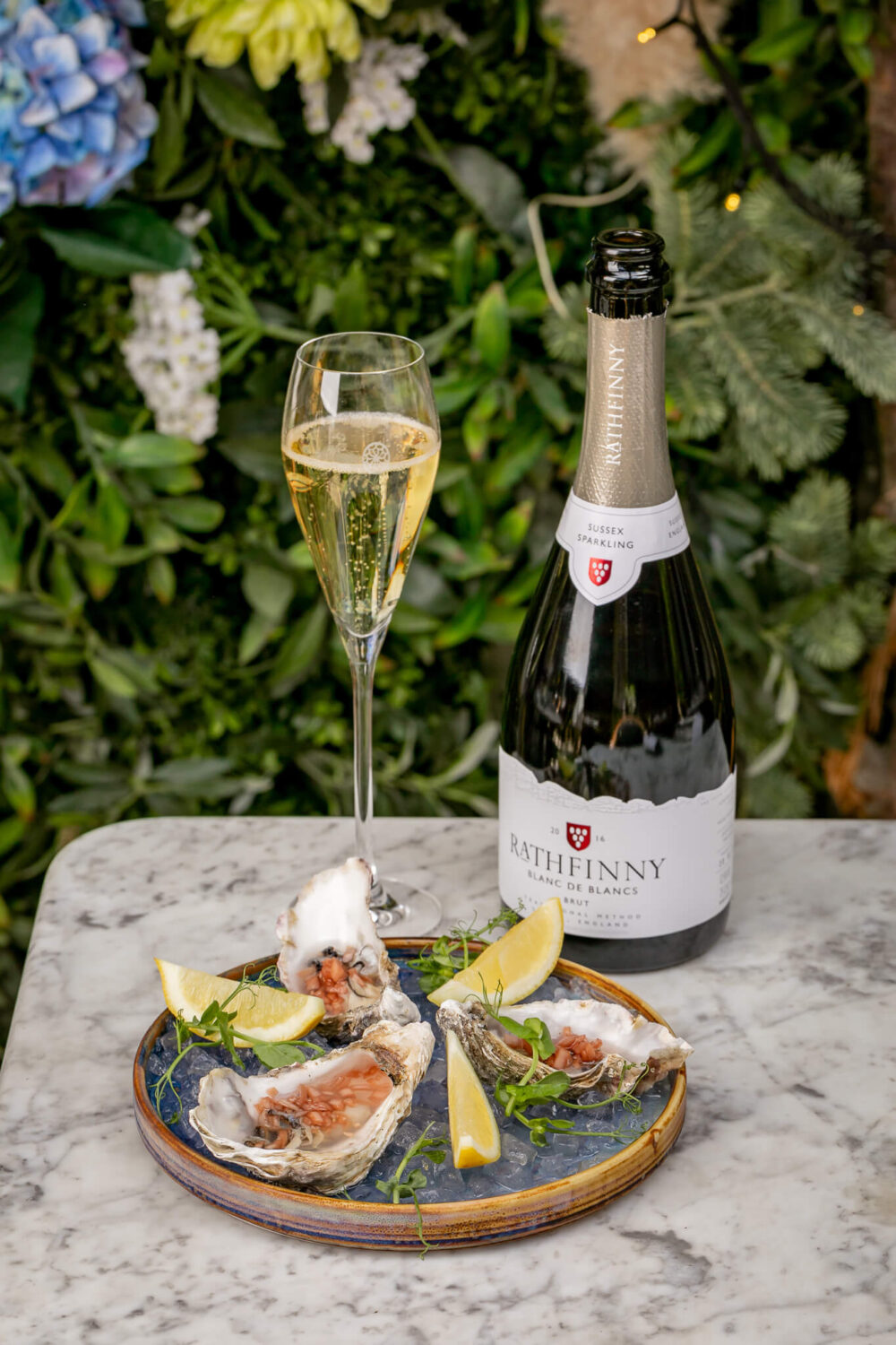 Rathfinny 2016 and Oysters Dalloway Terrace